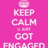 keep-calm-u-just-got-engaged black bridal bliss