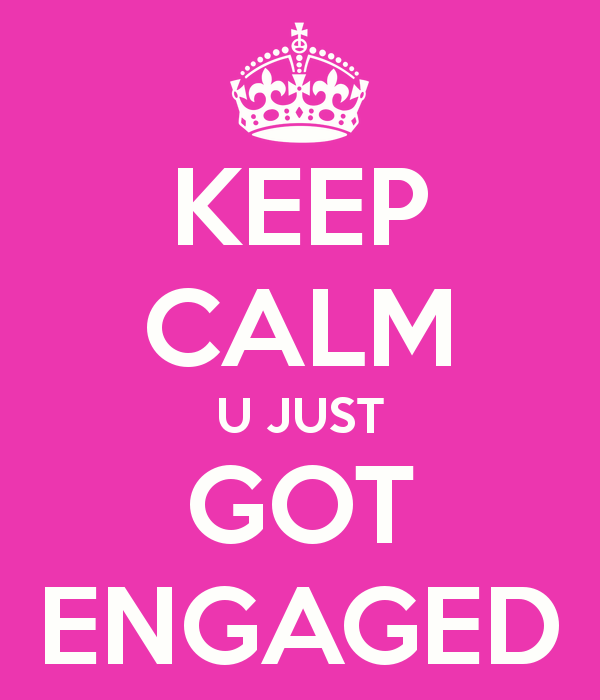 keep-calm-u-just-got-engaged black bridal bliss