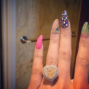 Nicki Minaj's 15-carat engagement ring from rapper Meek Mill