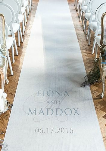 Consider a personalized aisle runner for your big day
