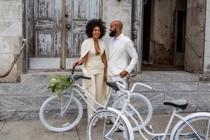 Solange and hubby Alan Ferguson have been hitched for 6 months!