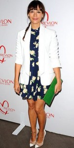 Rashida Jones at the Cancer Research luncheon at the Four Seasons in Beverly Hills