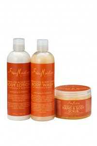 ARGAN OIL & RAW SHEA BUTTER BATH AND BODY TRIO
