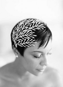Short bridal hair inspiration on Bridal News You Can Use