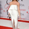Model Chrissy Teigen attends the 2015 CFDA Fashion Awards