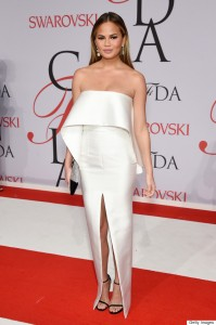 Model Chrissy Teigen attends the 2015 CFDA Fashion Awards