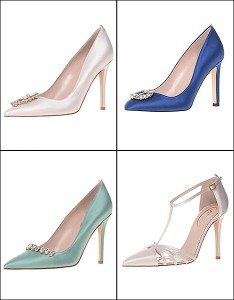 Designs from Sarah Jessica Parker's  bridal shoe collection.