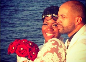 Fantasia Barrino poses for photos with new husband Kendall Taylor