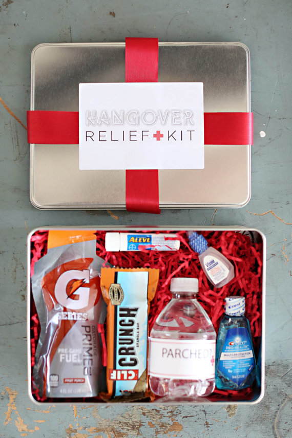 Prep your guest for the party with these hangover relief kits