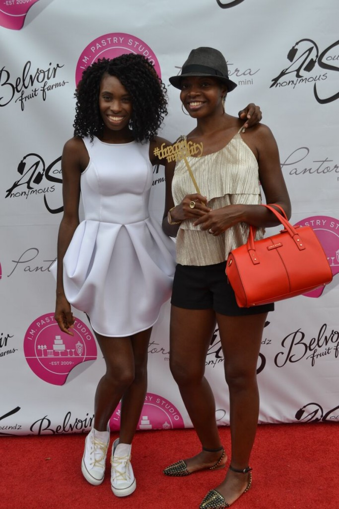 Andrea and I enjoying the red carpet at her Pantora Mini Grand Opening last month.