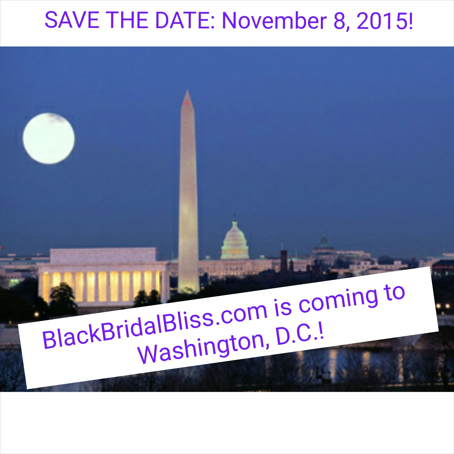 dc ccc save the date black bridal bliss