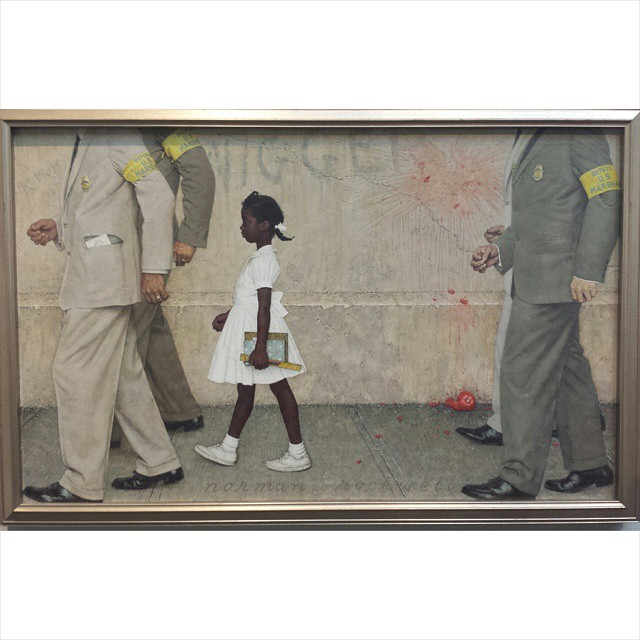 "Triple B on the scene at the Norman Rockwell Museum. ""The Problem We All Live With"" - 1963"