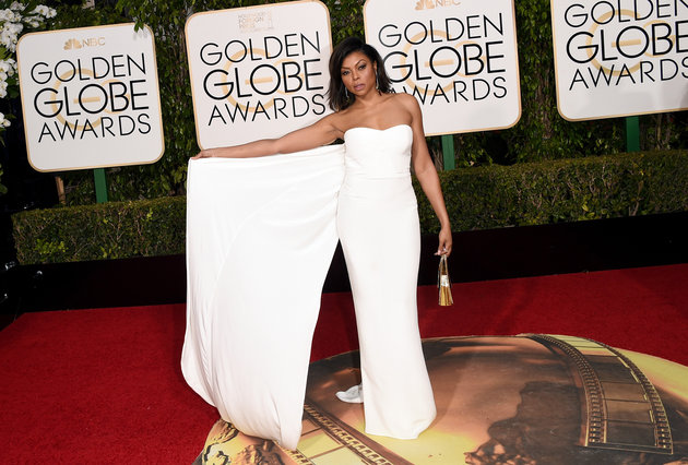 BEVERLY HILLS, CA - JANUARY 10: Actress Taraji P. Henson attends the 73rd Annual Golden Globe Awards held at the Beverly Hilton Hotel on January 10, 2016 in Beverly Hills, California. (Photo by Jason Merritt/Getty Images)