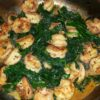 Dinner is Served: Linnyette's Shrimp & Sauteed Spinach!