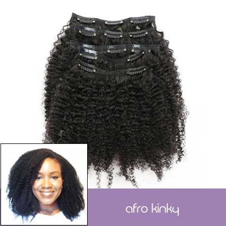 4A Afro-Kinky Clip-Ins