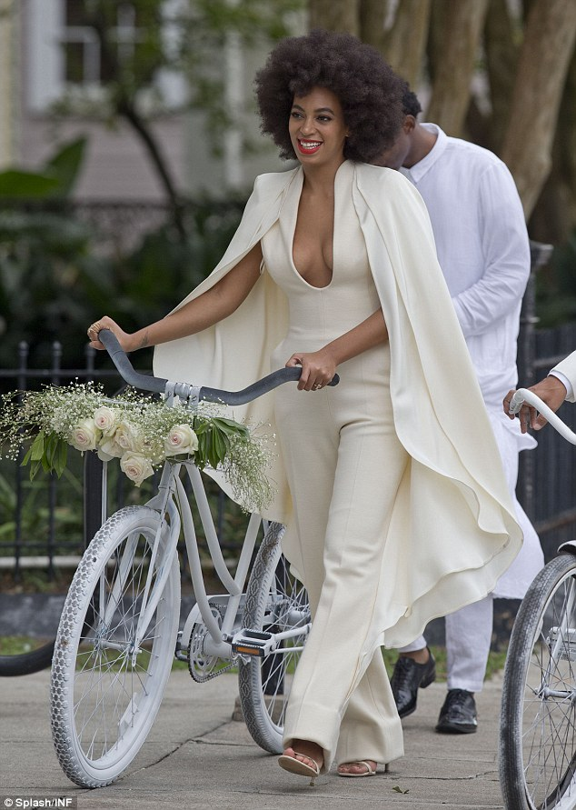 How stunning was this jumpsuit worn by Solange on her big day?
