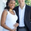 Tayana Ali photographed with her baby bump and new beau!
