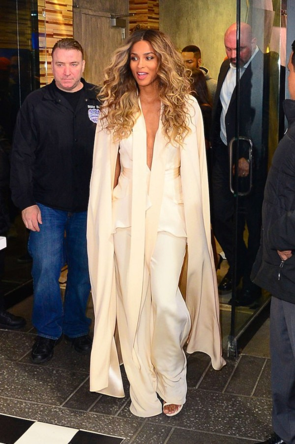 Did not Ciara slay in this jumpsuit and cape!