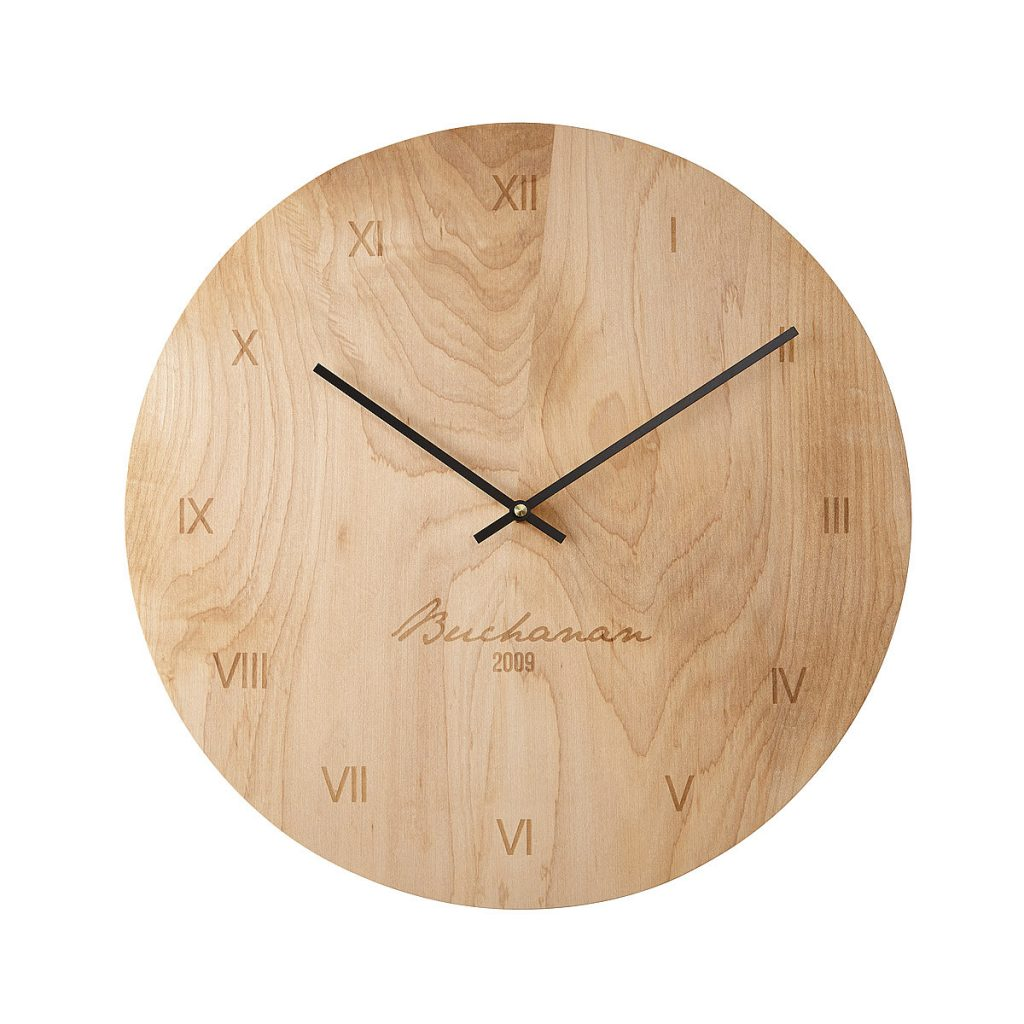 Personalized Maple Wall Clock, $72.