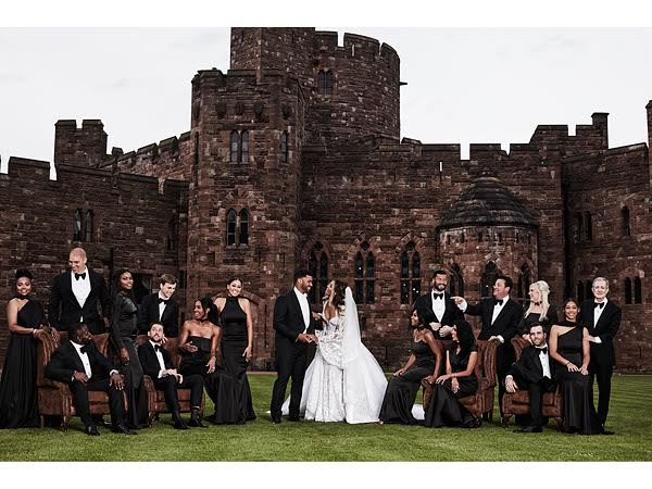 The Wilsons and their bridal party shut England down with this stunning portrait!