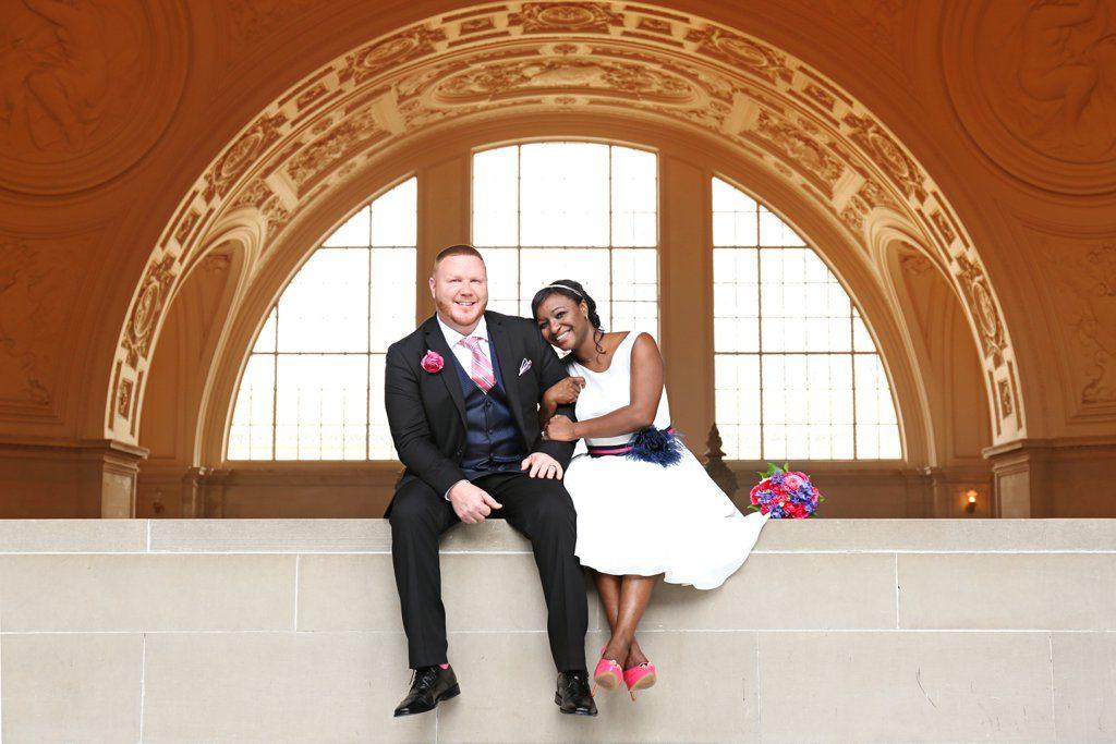 San-Fran-City-Hall-Wedding-BlackBridalBliss3
