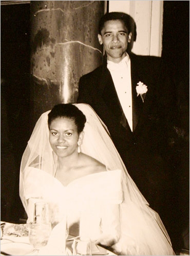 It's Our Anniversary: Flotus & Potus on their wedding day, 1992.