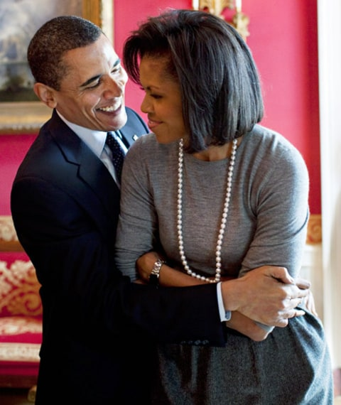 Huggin' it out in The White House.