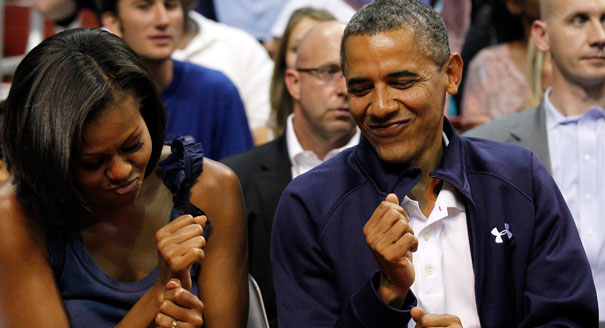 There is probably a very similar picture of your aunt and uncle or best friend and her hubby or some other beloved couple in your life dancing together like this at a family reunion, wedding reception or backyard BBQ. (You know it is true.) And this is reason #649 we dig the Obamas.