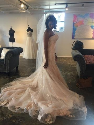 Did our resident bride-to-be Keisa say yes to the dress?