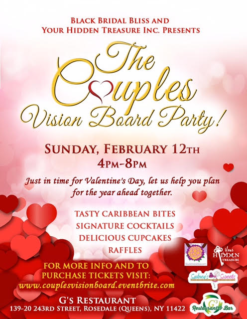 Couples Vision Board Party February 12