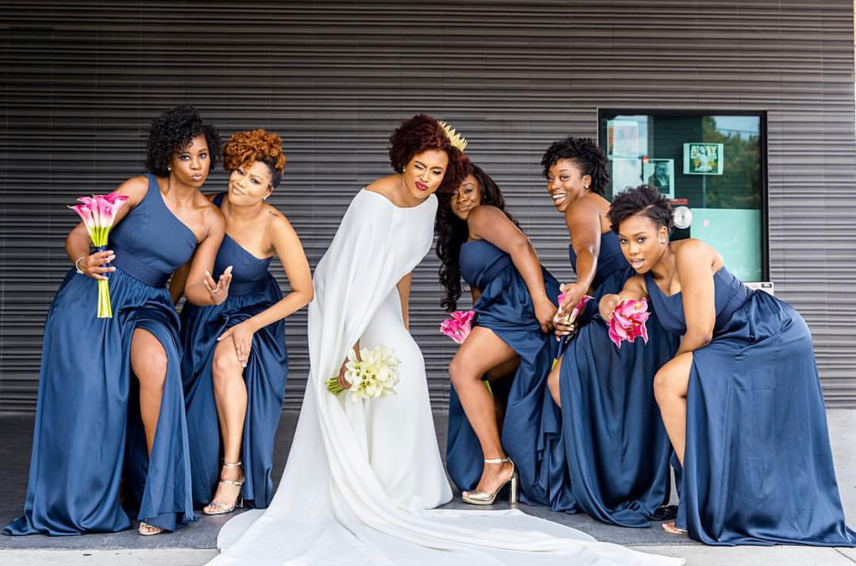 Black bridal bliss the ultimate online destination for black brides bridalpartysquadgoals of the week ombrellifo Images